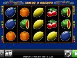 Candy and Fruits casino free slot machine