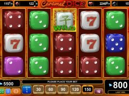 Play slot machine for fun Caramel Dice