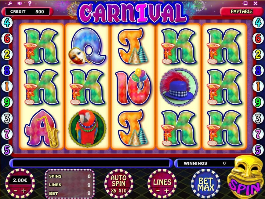 Play slot game for fun Carnival no registration
