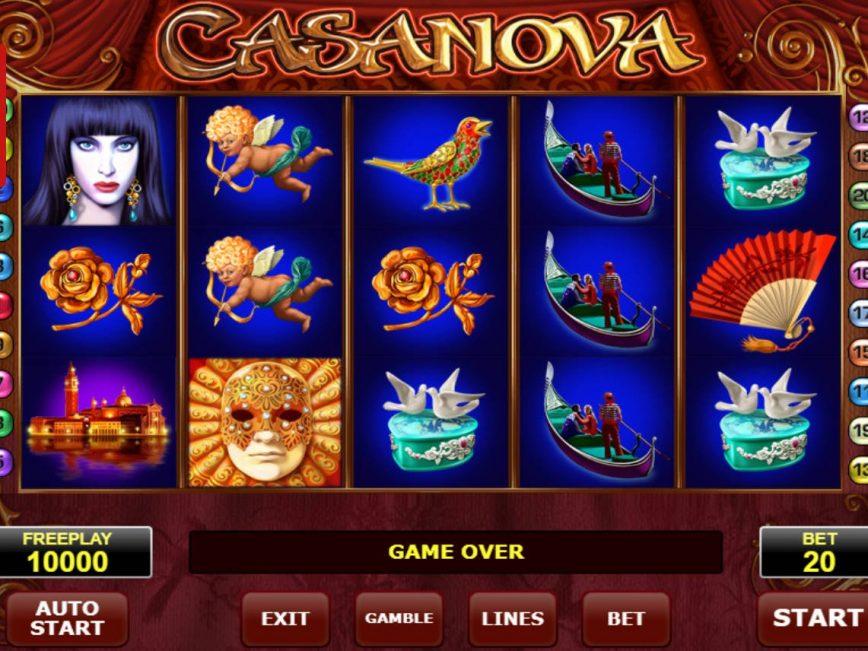 A picture of the online slot machine Casanova