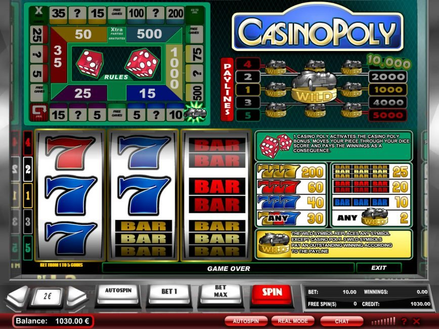 Play free online game Casinopoly