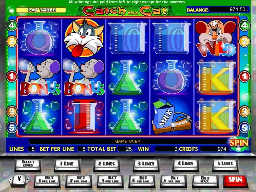 Casino free slot machine Catch the Cat no deposit