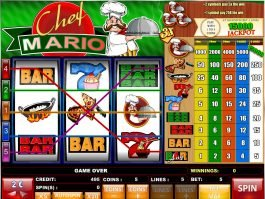 Play slot machine Chef Mario