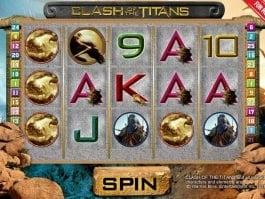 A picture of the slot game Clash of the Titans