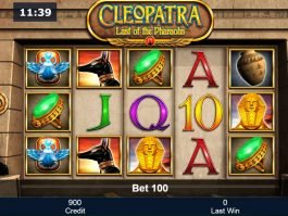 No deposit slot Cleopatra - Last of the Pharaohs
