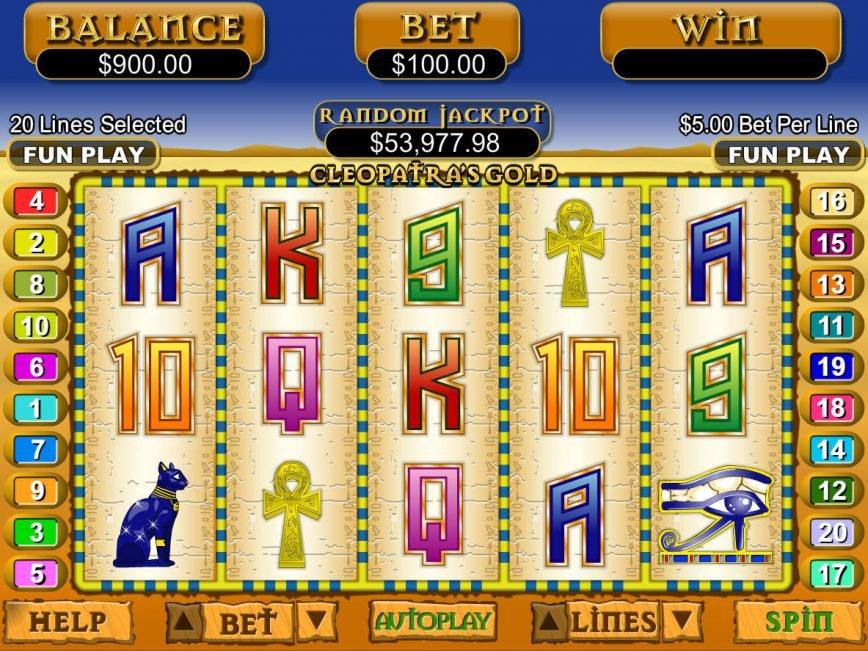 Slot machine for fun Cleopatra´s Gold