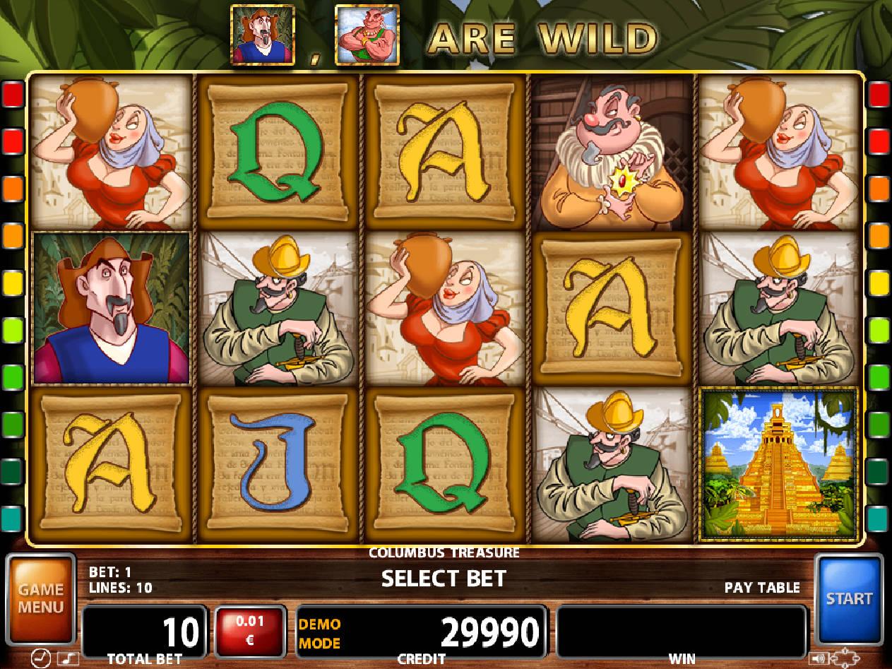 Columbus treasure casino technology slot machine game