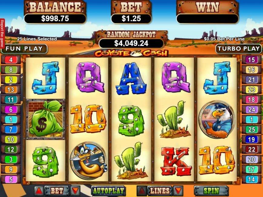 No download slot game Coyote Cash