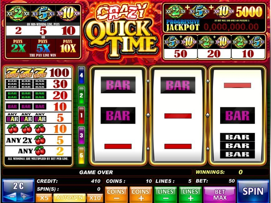 Crazy Quick Time online slot game for fun