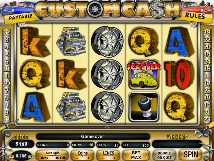 Play free online slot game Custom Cash
