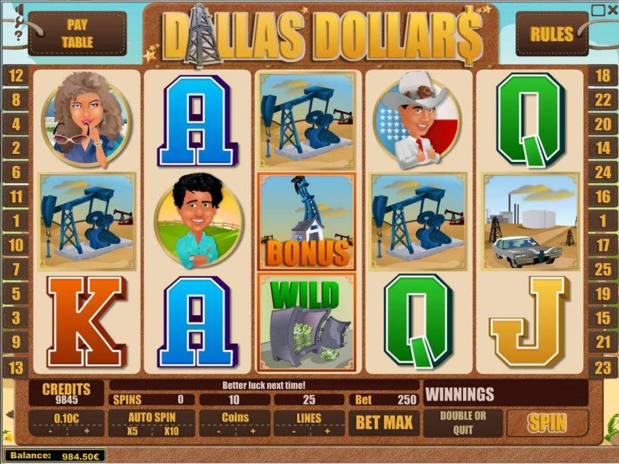 Dallas Dollars online slot machine with no deposit