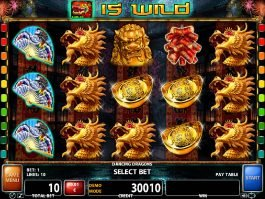 Online casino slot game Dancing Dragons