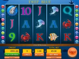 A picture of the casino slot game Deep Blue