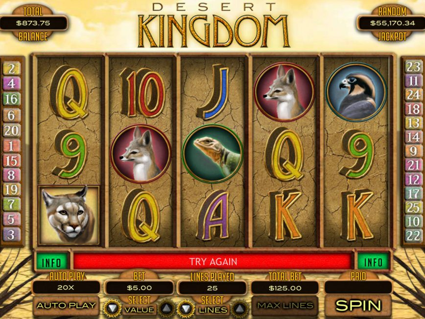 Go on a No Download Hunt with Desert Kingdom Slots