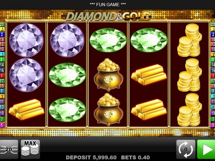 No deposit slot machine Diamond and Gold