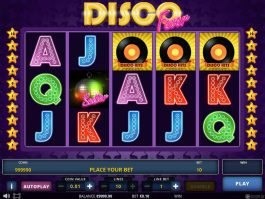 A picture of the free slot game Disco Fever