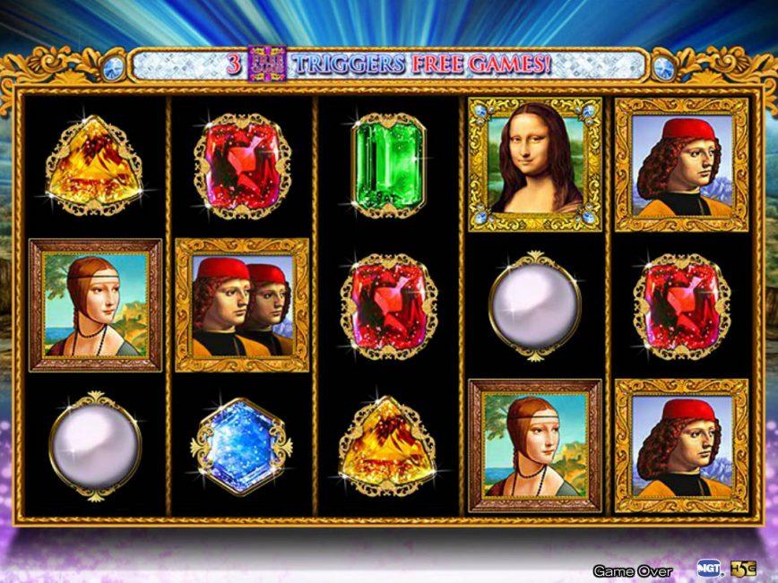 Free davinci slot machine