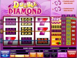 Play free slot game Double Diamond by iSoftbet
