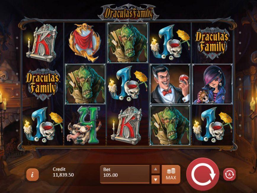 Slot machine for fun Dracula´s Family