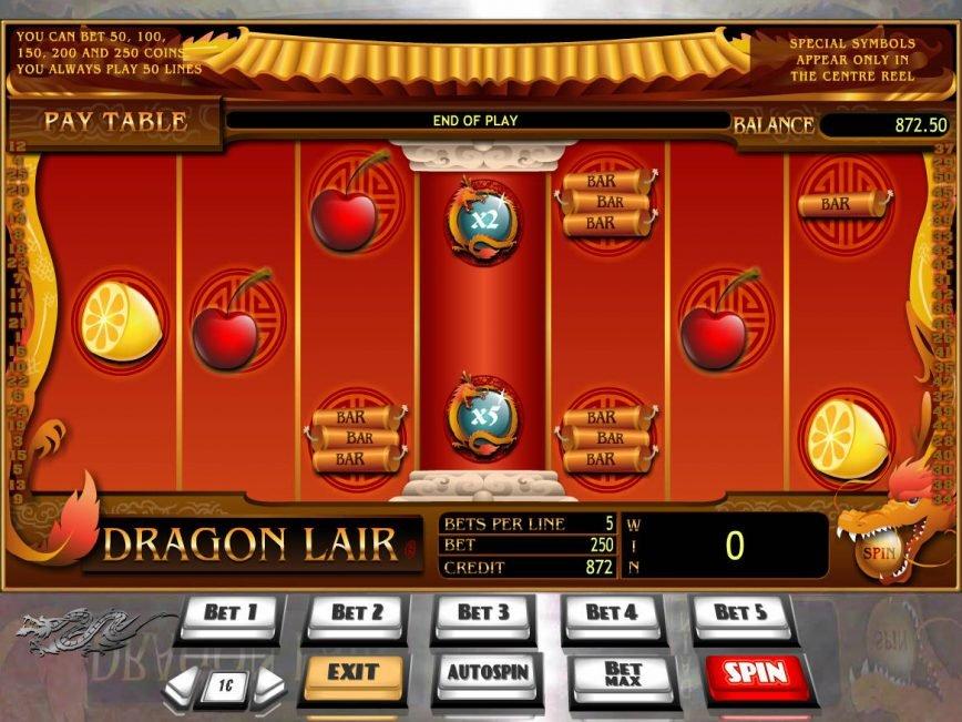 Free online slot game Dragon Lair no deposit