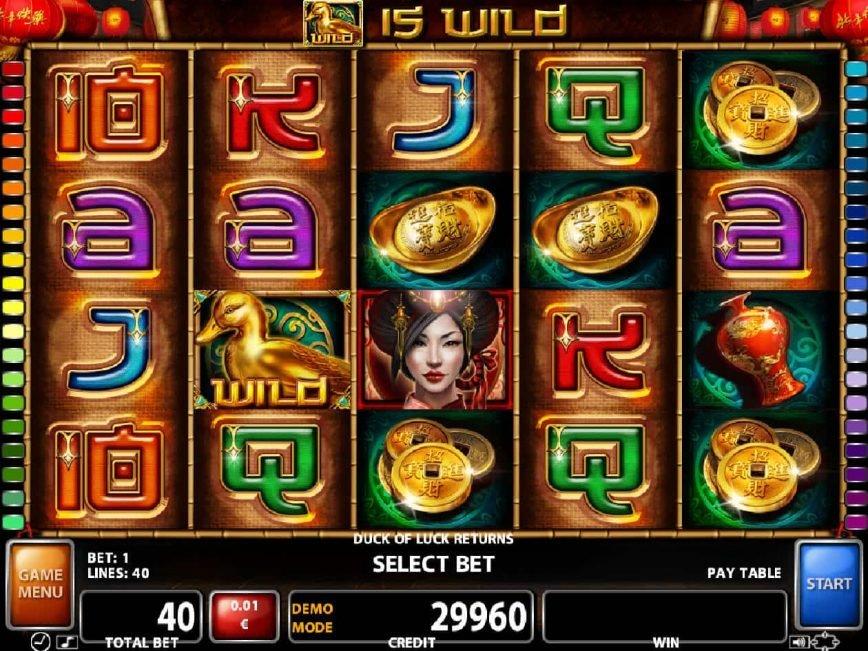 Duck of Luck Returns online casino game