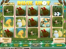 Spin no registration slot game Duck Shot