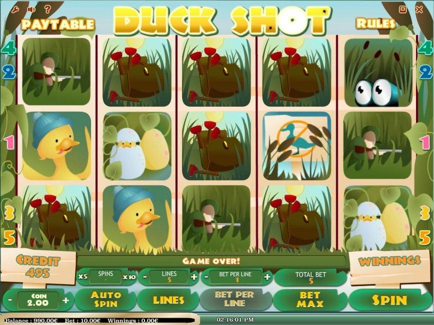 Spin no registration slot game Duck Shot
