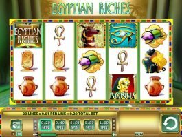 Spin free slot machine Egyptian Riches for fun