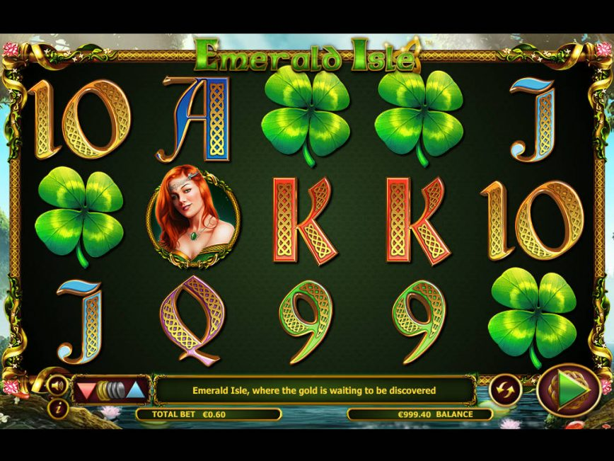 A picture of the online game Emerald Isle