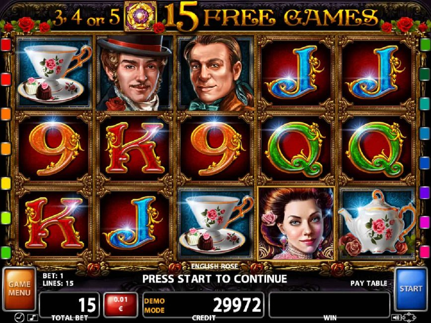 Slot machine for fun English Rose