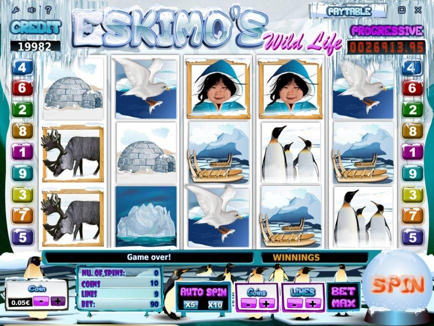 Play casino slot game Eskimo´s Wild Life