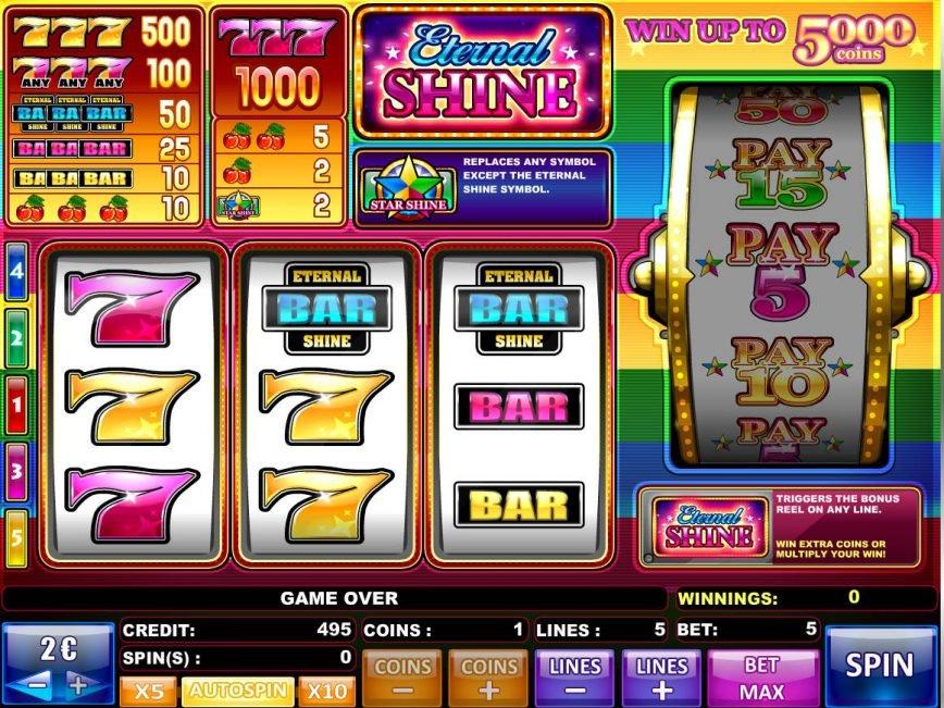 Slot machine Eternal Shine online
