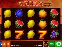 Explodiac Maxi Play slot machine by Bally Wulff