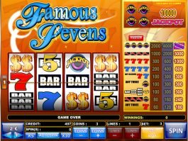 Play slot game Famous Sevens online