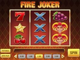 Slot machine with no deposit Fire Joker