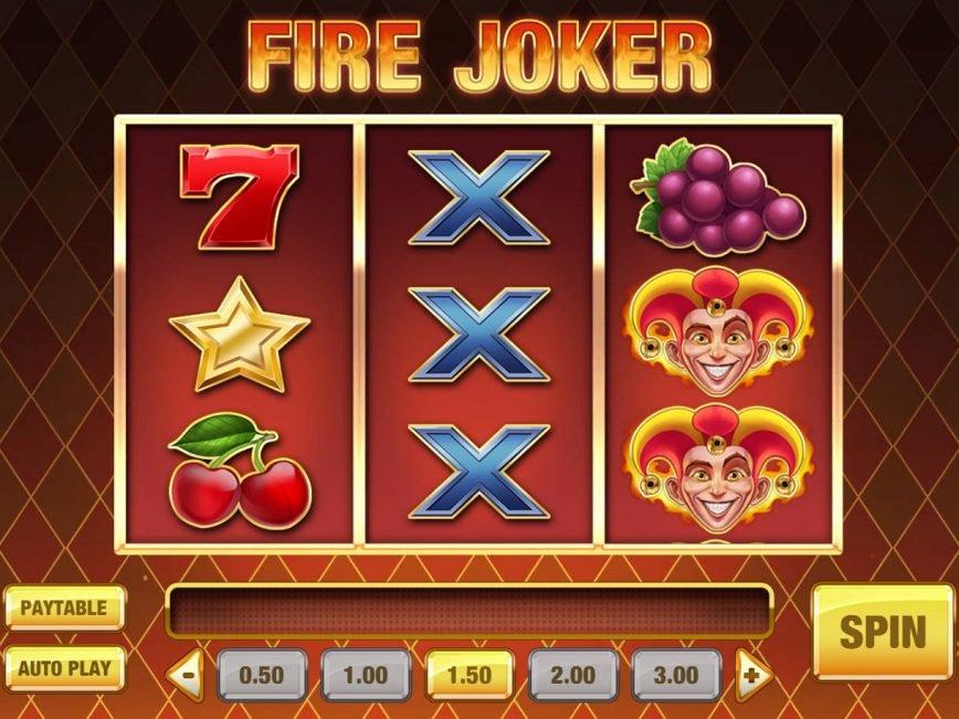Slot machine with no deposit Fire Joker