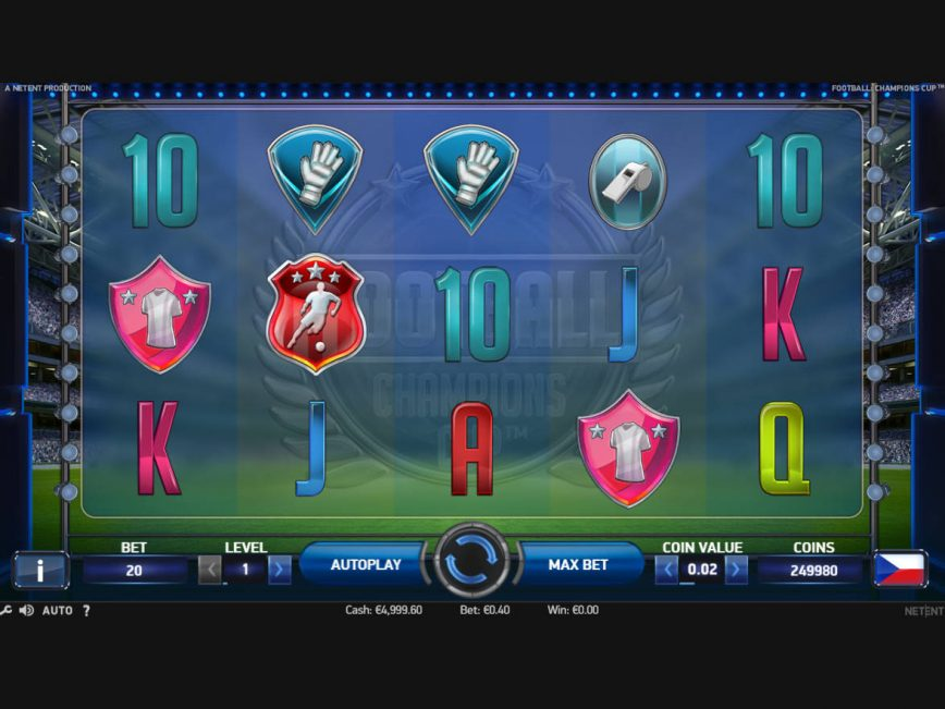 Football: Champions Cup online free slot game