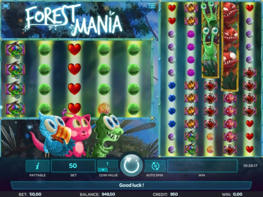 Forest Mania casino online slot game by iSoftbet
