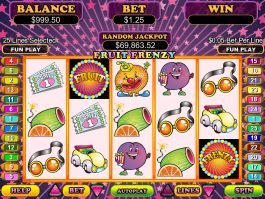 A picture of the slot game Fruit Frenzy