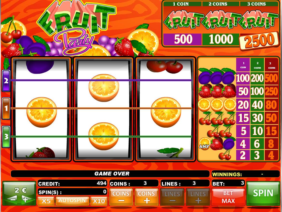 Fruit Party Slot Machine