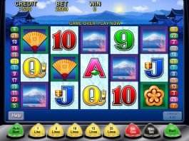 A picture of the slot game Geisha by Aristocrat