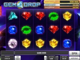 A picture of the slot game Gem Drop online