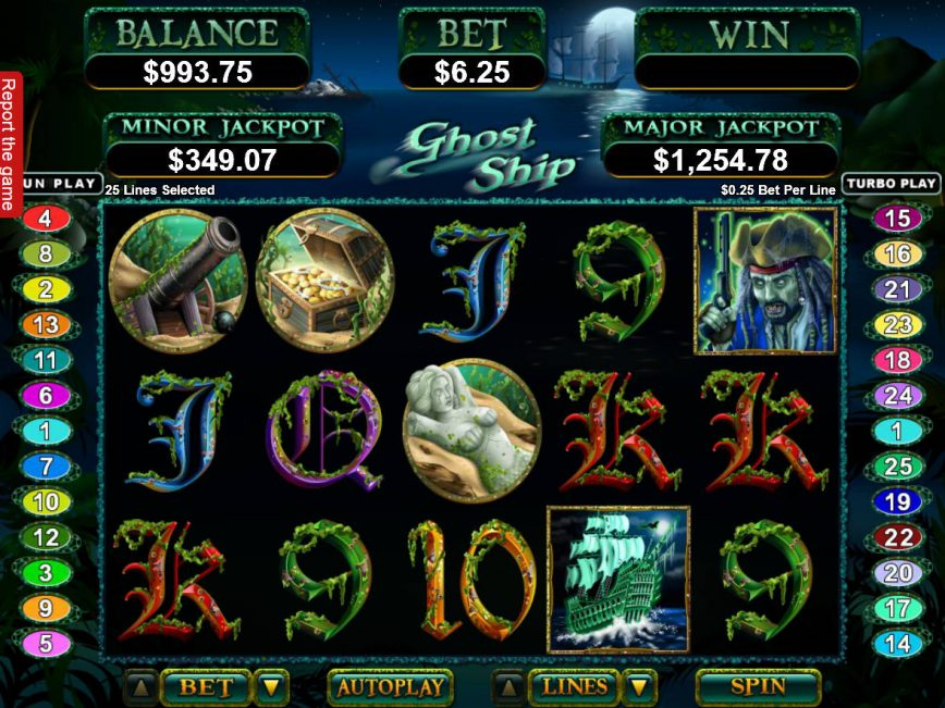 Ghost Ship free slot for fun