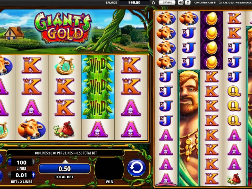 Casino slot machine Giant's Gold
