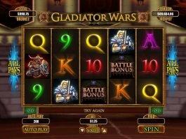 Play casino slot machine Gladiator Wars
