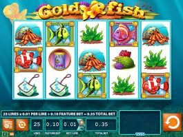 Play slot machine Gold Fish for free