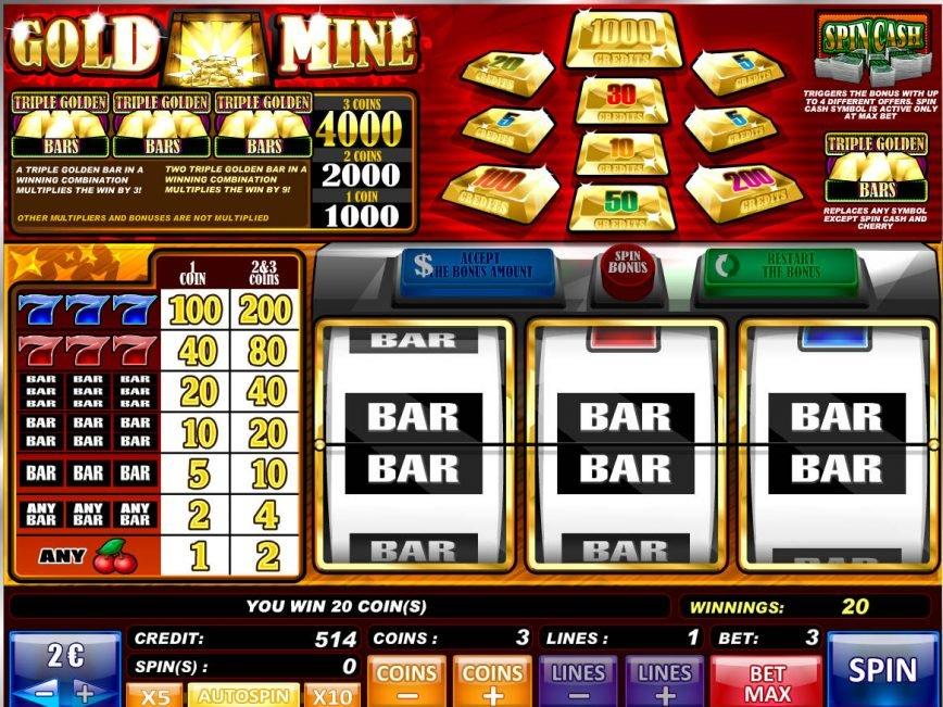 Free online slot game Gold Mine