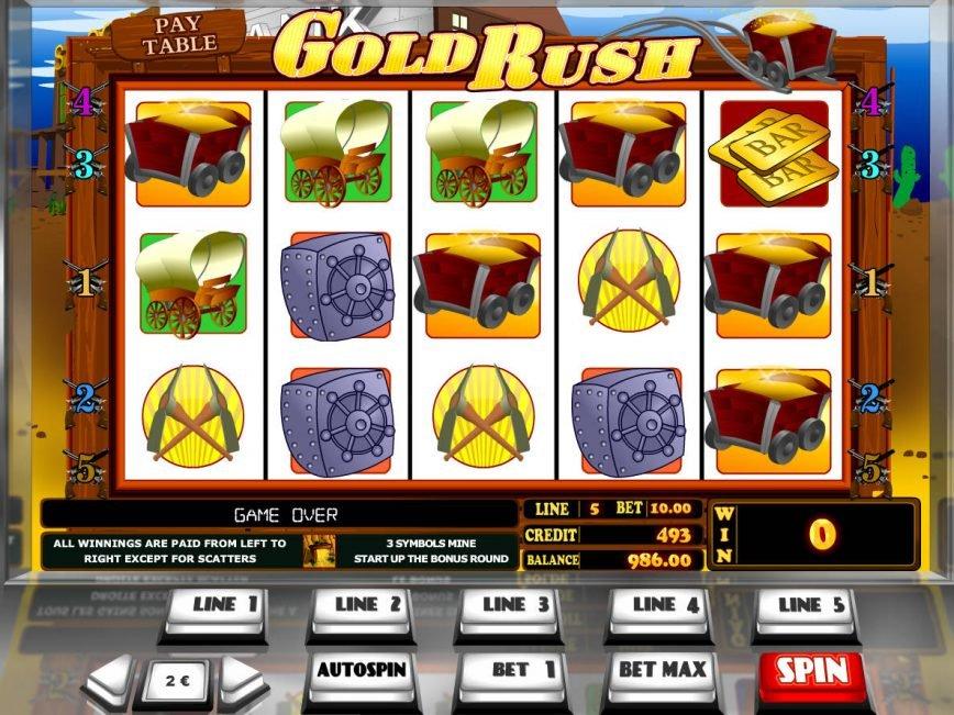 Online casino slot machine Gold Rush
