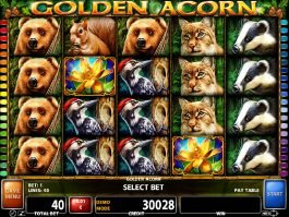 Play free slot game Golden Acorn