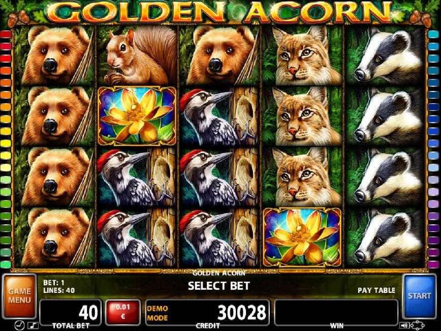 Play free slot game Golden Acorn